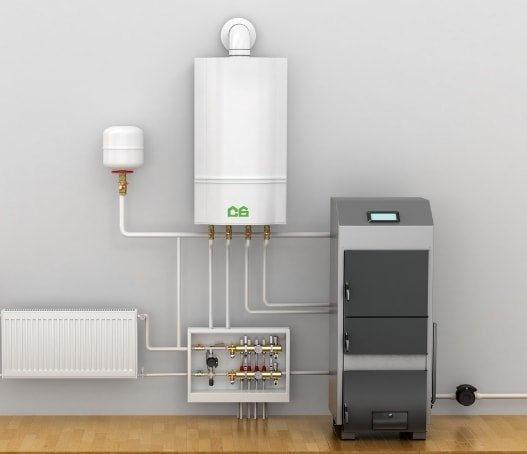 Как в одну систему подключить электрический, газовый или твердотопливный котел?