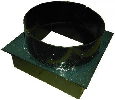 Переходник дымохода с прямоугольного на круглый 150 для котлов Проскуров