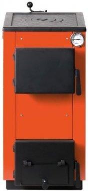 Твердотопливный котел MaxiTerm 12 кВт (с плитой, косая загрузка)