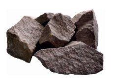 Камень для бани Малиновый кварцит колотый (Украина), 20 кг