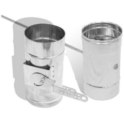 Регулятор тяги для одностенной трубы 1 мм