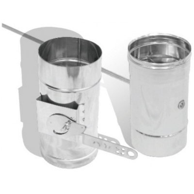 Регулятор тяги для одностенной трубы 0,8 мм