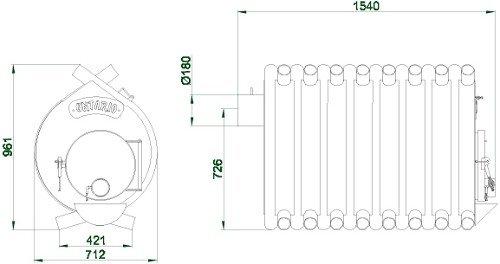 Размеры Булерьян ONTARIO (тип 05)
