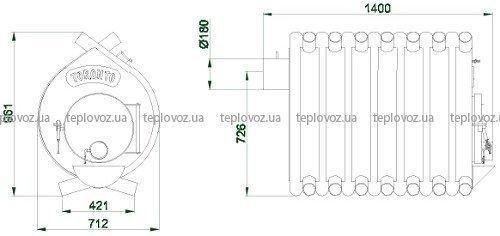 Размеры Булерьян TORONTO (тип 04)