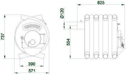 Размеры Булерьян VANCOUVER (тип 01)